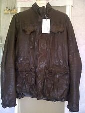 GIACCA NEIL BARRETT BUFALO LEATHER JACKET! GIUBBOTTO PELLE 100% NEW!! PVP 1750!!