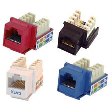 CHOOSE COLOR Cat-6 Jack for Keystone Faceplates / Panel