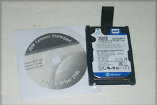 "IBM Thinkpad T60 T61 250GB SATA 2.5"" Laptop Hard Drive with Caddy and Driver DVD"