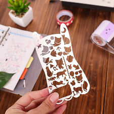 DIY Journal Diary Supplies Cute Cat Fashion Hollow Out Stainless Ruler 13*7cm