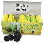 10 Rolls 60 Pcs Lemon Mint Charcoals Hookah Shisha Nargila Pipe Coal With Hole