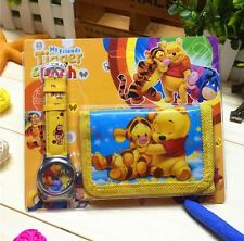 NEW Childrens Kids Winnie The Pooh & Tigger Too Wallet Watch Gift Set
