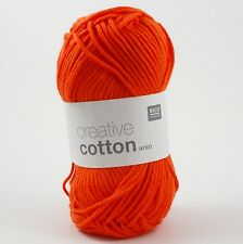 Rico Creative Cotton Aran - 100% Cotton Knitting & Crochet Yarn - Orange 74