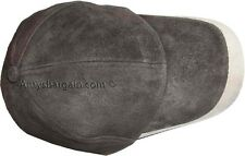 New 2 Tone Suede Leather cap For Man/Woman Baseball cap leather hat Brand New