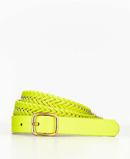 Brand New Ann Taylor Sorbet Woven Skinny Belt Color Bright Yellow Size S