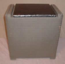 """Vintage Woven Wicker Laundry Clothes Hamper 17""""x16 1/2""""x10 1/2"""""""