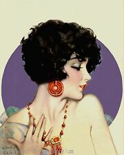 Flapper Art Print 8 x 10 - Jazz Age - Art Deco - Roaring 20's - Pin Up Cute