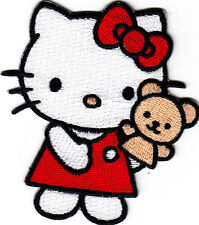 HELLO KITTY w/PUPPET - Cartoon Character/Iron On Embroidered Applique Patch