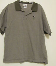 Mens Olive Green Walt Disney World S/S Shirt with Mickey Mouse Embroidered