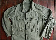VTG 40s WWII US ARMY 13 STAR 2nd PATTERN HBT UTILITY SHIRT JACKET MILITARY SMALL