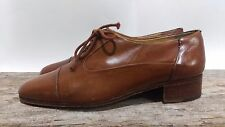 VIGEVANO Light Brown Italian Leather Womens Oxford SHOES SIZE 7 1/2 A Vintage