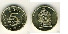 SRI LANKA 8-PC UNCIRCULATED COIN SET, 0.02 TO 10 RUPEES