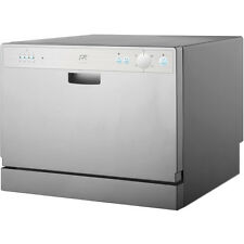 Countertop Dishwasher w/ 6 Preset Cycles & Delay, Portable Apartment Dish Washer