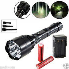 Power 6000LM 3x XM-L T6 LED Taschenlampen Fackel Flashlight 3x 18650 Akku+Lade