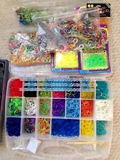 WOW! Huge Lot RAINBOW LOOM Thousands Rubber Bands, Clips, Looms Organizer Craft