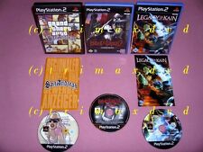 3x ps2 _ Blood augure 2 & Legacy of Kain Defiance & grand theft auto san andreas