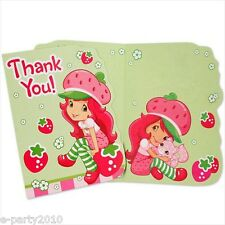 (8) STRAWBERRY SHORTCAKE DOLLS THANK YOU NOTES ~ Birthday Party Supplies Cards