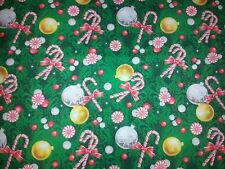 CHRISTMAS PEPPERMINT CANDIES CANDY CANE TREE ORNAMENTS  LINED VALANCE 42 X 15