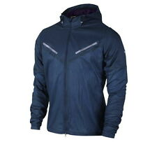 NIKE STAY DRY CYCLONE MENS TRACK PACKABLE RUNNING JACKET XL BLUE PURPLE 519734