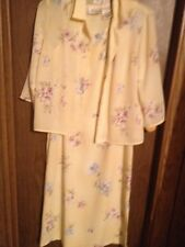 Katie Lee Long Floral Yellow Dress  Size 12