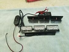NEW EMERGENCY  LED GRILL STROBE LIGHTS 1 WATT LEDS FIRE,POLICE,EMT LIGHT