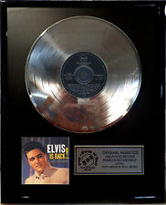 "Elvis PRESLEY Elvis Is Back CD/COVER incorniciato +12"" decorazione dorata vinile disco"