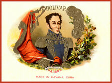 "16x20""Decoration Poster.Interior design art.Cuban Bolivar cigar label.6321"