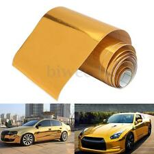 4''x60'' Gold Chrome Car Sticker Decal Vinyl PVC Wrap Film With Air Bubble