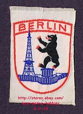LMH PATCH Badge  BERLIN Berliner Funkturm RADIO TOWER Antenna GERMANY Black Bear