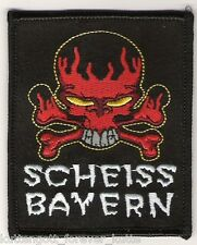 "Anti Bayern Aufnäher ""Scheiss"" Kutte Weste Fan Patch Block Kurve + neu +"
