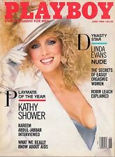Playboy magazine June 1986 Kathy Shower Linda Evans Kelly LeBrock