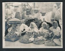 1911 Christmas Day Street Vendors, Philippines Vintage Photo