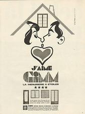 Publicité 1968  GIMM  la menuiserie 4 *  portes fenetres