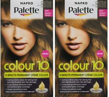 2 x NAPRO PALETTE COLOUR 10 PERMANENT HAIR COLOUR 8-0 MEDIUM BLONDE Brand New