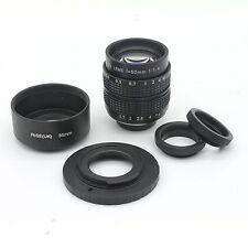 Fujian 50mm F1.4 CCTV TV Movie lens + C Mount to Fuji Fujifilm X-Pro1(C-FX)+HOOD