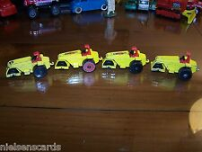 Matchbox SF-21 Hot Rod Roller lot of 4 (1 with red wheels) C-4