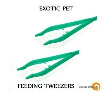 2 xTweezers for Feeding Reptile, Tarantula Live food Tongs Praying Mantis Locust
