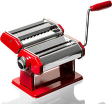 Professional Chef Red Pasta Maker - Roller & Pasta Machine - Noodle Maker