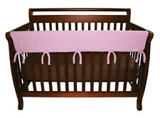 """CribWrap Convertible Crib Rail Cover-51"""" Pink Fleece By Trend Lab 109077 New"""