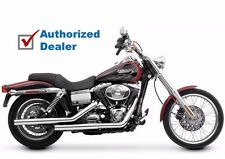 Vance & Hines Chrome Slip On Mufflers Pipes 1991-2017 Harley Dyna FXD 16823