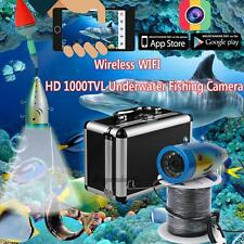 Wireless WiFi Fish Finder Underwater 20 m Video Camera Color HD 1000 TVL Monitor