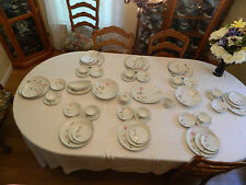 Sango/ Style House Fine China Japan Dawn Rose Set for 8 with 7 Serving Pieces