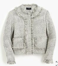 NWT JCREW Women's Lady Jacket In Metallic Tweed Blazer Sz 0 F7291 $198 CURRENT!
