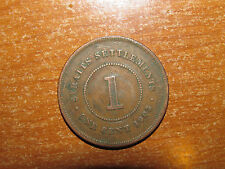 Straits Settlements 1903 Cent coin Very Fine nice