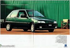 PUBLICITE ADVERTISING 115  1993  PEUGEOT 106  ROLAND GARROS ( 2 pages)