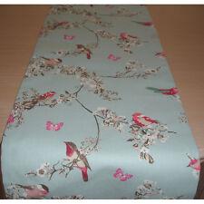 """48"""" corredor de la tabla 120cm Rosa Verde Azulado Beige Aves Mariposas Azul Flor Flor 4ft"""