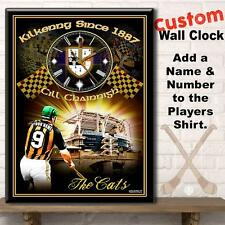 Personalised Kilkenny Hurling GAA Gaelic Football Large Hanging Wall Clock Gift