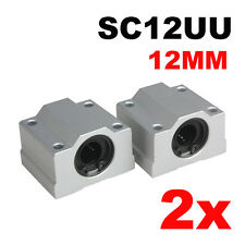 2Pcs 12 mm SC12UU Linear Ball Bearing Slide Bush Bushing Linear Motion Machinery