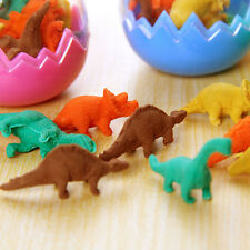 8X Dinosaurs Egg Pencil Rubber Eraser Students Office Stationery Kid Toy SE