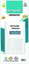 Envie SPEEDSTER LCD Charger High Speed Fast Autocut ECR-11 for AA/AAA+ Warranty
